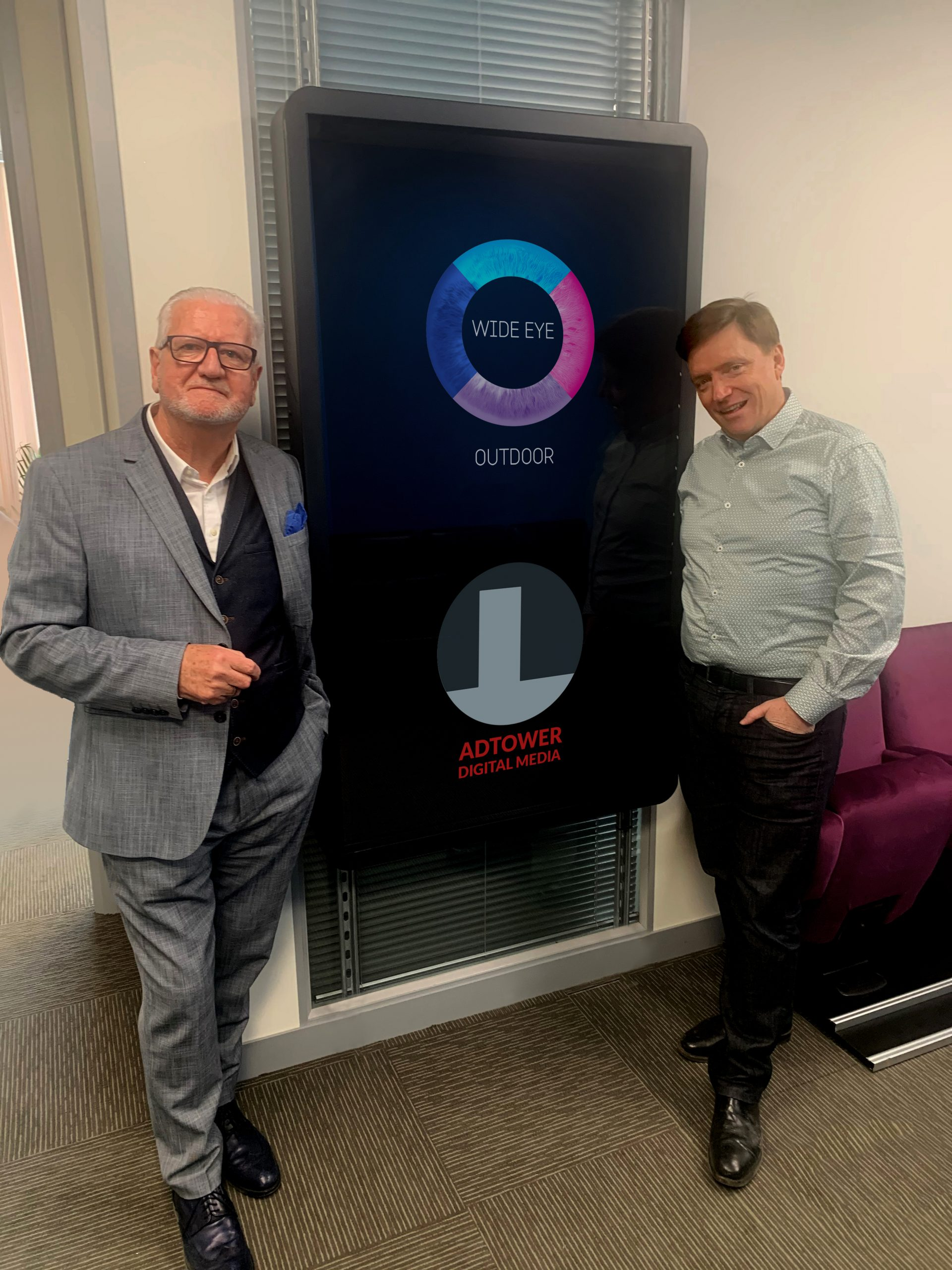 Ireland's largest Digital Out of Home Network is created by the merger of Wide Eye Outdoor and Adtower Limited